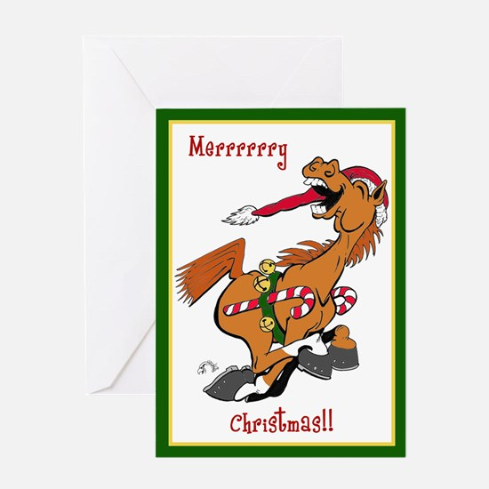 YeeHaw Christmas Horse Greeting Card