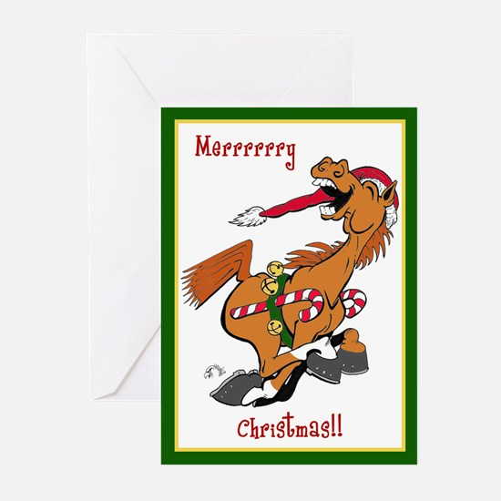 YeeHaw Christmas Horse Greeting Cards (Pk of 10)