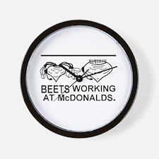 Beets working at McDonalds Wall Clock