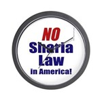 NO Sharia Law in America Wall Clock