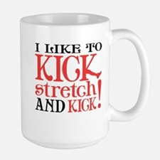 I Like to KICK! Large Mug