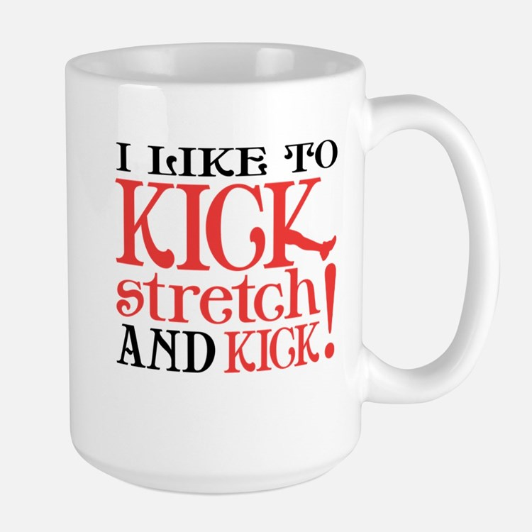 I Like to KICK! Large Mug