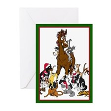Christmas Animals Greeting Cards (Pk of 20)