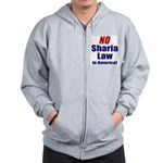 NO Sharia Law in America Zip Hoodie