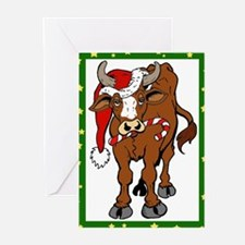 Christmas Cow Greeting Cards (Pk of 10)