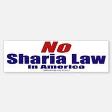 NO Sharia Law in America (Bumper Sticker)