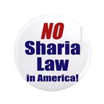 "NO Sharia Law in America 3.5"" Button"