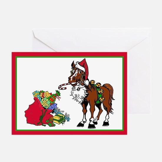 Santa's Helper Horse Greeting Cards (Pk of 10)