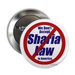 "NO Sharia Law in America 2.25"" Button (100 pa"