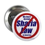 "NO Sharia Law in America 2.25"" Button"