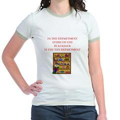 funny blackjack Jr. Ringer T-Shirt