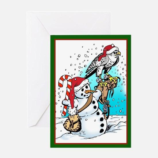 Falconry Santa Hat Greeting Card