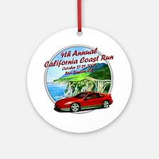 4th Annual California Coast R Ornament (Round)