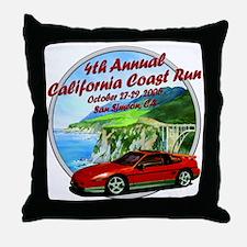 4th Annual California Coast R Throw Pillow