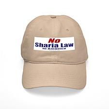 NO Sharia Law in America Baseball Cap