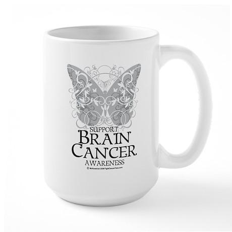 Brain Cancer Butterfly Large Mug