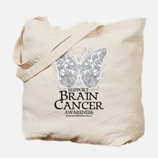 Brain Cancer Butterfly Tote Bag