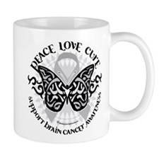 Brain Cancer Butterfly Tribal Mug