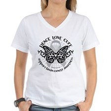 Brain Cancer Butterfly Tribal Shirt