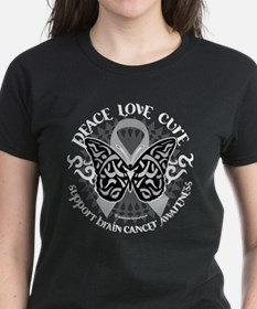 Brain Cancer Butterfly Tribal Tee