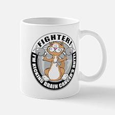 Brain Cancer Fighter Cat Mug