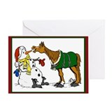 Horse christmas Greeting Cards