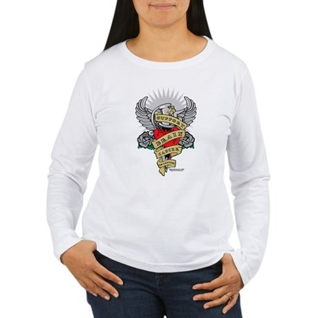 Brain Cancer Dagger Women's Long Sleeve T-Shirt
