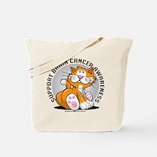 Brain Cancer Cat Tote Bag