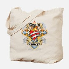 Brain Cancer Cross & Heart Tote Bag