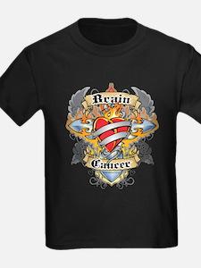 Brain Cancer Cross & Heart T