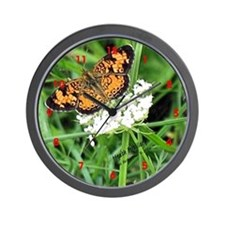 Heath Fritillary Butterfly Wall Clock