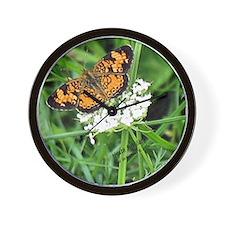 Heath Fritillary Butterfly Wall Clock
