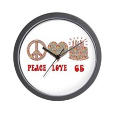 Funny Happy sixty fifth birthday Wall Clock