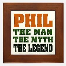 PHIL - The Legend Framed Tile