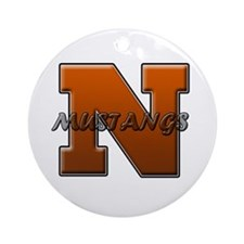 Northville Mustangs Ornament (Round)