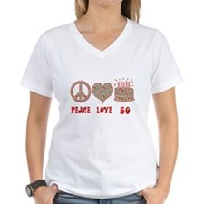 Unique Peace love birthday Shirt