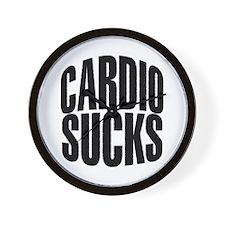 Cardio Sucks Wall Clock
