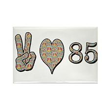 Peace love birthday Rectangle Magnet