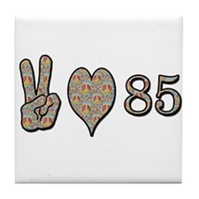 Cute 85th birthday party Tile Coaster