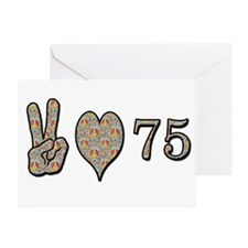 Funny Love peace 75 Greeting Card
