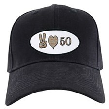 Funny Love peace happiness Baseball Hat