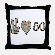 Unique Peace love Throw Pillow