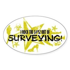 I ROCK THE S#%! - SURVEYING Decal