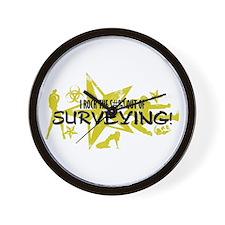I ROCK THE S#%! - SURVEYING Wall Clock