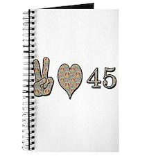 Cute 45th birthday Journal