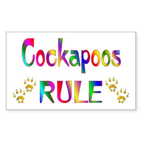 Cockapoo Sticker (Rectangle)