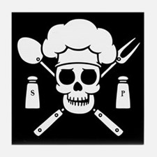 Chef Pirate Tile Coaster