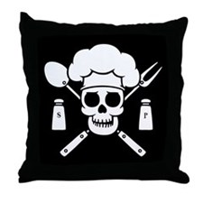 Chef Pirate Throw Pillow