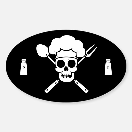 Chef Pirate Sticker (Oval)