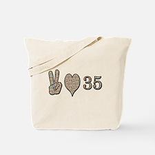 Cute 35th birthday Tote Bag